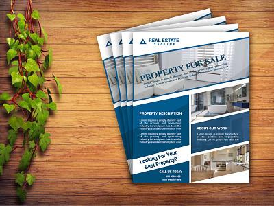 Real estate flyer design profile