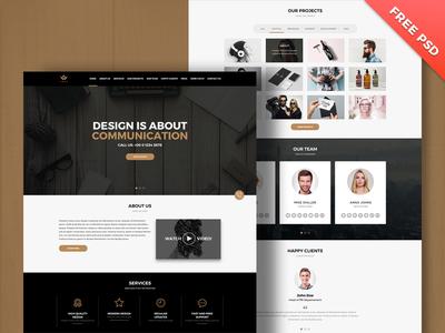 FREE PSD, Multipurpose Landing Page