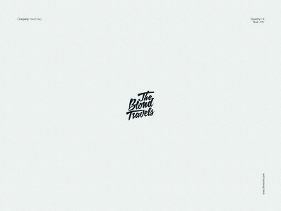The Blond Travels - logo for a travel blog freelance designer brand identity design logo redesign brand designer logo designer typogaphy typeface hand drawn type designer logo design blog travel travel blogger