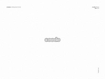 Coodo for kids - logo logo designer logo design retail design clothing brand branding for kids branding brand minimal flat type logotype designer design simple typogaphy vector logo for kids