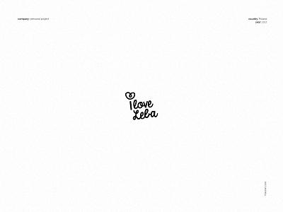 I love Leba - logo freelance designer brand identity brand designer logo maker logo designer branding minimal black and white vector fun simple logotype typeface handlettering type brand creation brand design personal project
