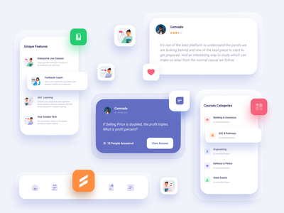 Testbook Select UI Component icons illustration testbook select testbook learning management system learning platform learning app online learning learning course online course education online education online branding design app web ux ui design