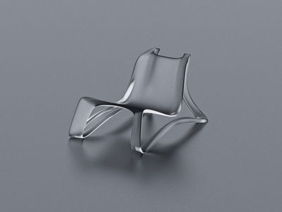 CURVISION chair concept design productdesign product 3dmodeling 3d minimal material glass rockchair chair industrialdesign