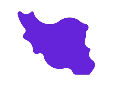 iran map icon