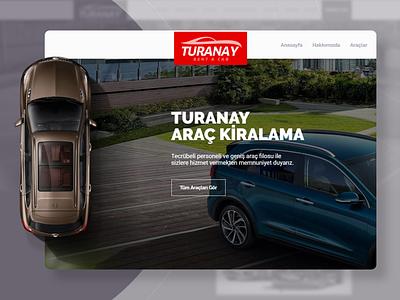 Turany Rent a Car Website Design website