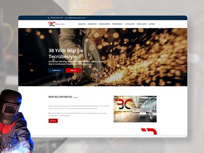 Bektaş Can Metal Website Design website