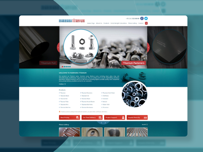 Marmara Titanyum Website Design website