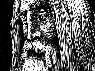 Czernebog comics graphic illustration character photoshop sketch art oldmen god czernebog