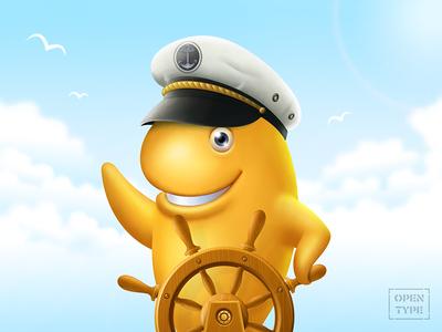 Hi! sea wheel personage character illustration digitalart cracker captain