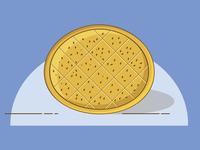 Ramadan Pide Bread - Line Art