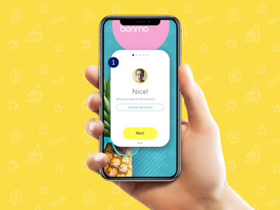 Talent on-boarding screen mobile