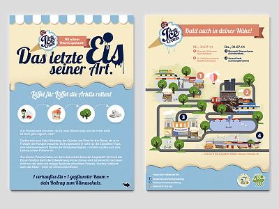Arctic Ice Cream illustration donation poster cream ice arctic