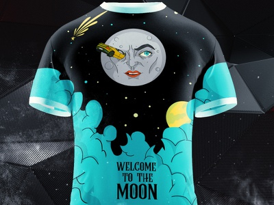 Welcome to the Moon tothemoon digital print illustration crypto corporate blockchain bitcoin