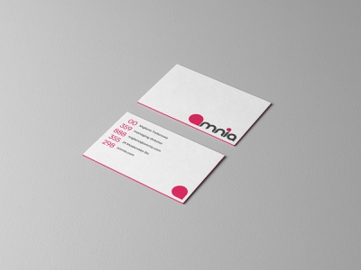 Omnia Business Cards visual identity identity stationery business cards branding
