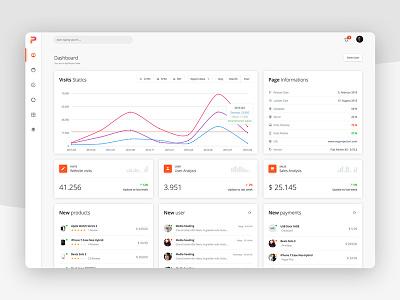 Ui Dashboard creative charts graph flat creartix dashboard ux ui admin