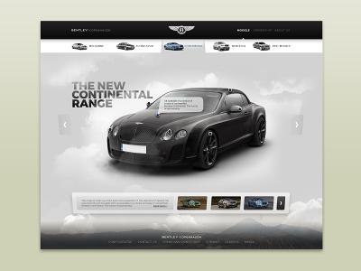 Bentley Copenhagen ui ux web page product bentley car ui