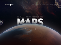 Mars one Landing page header