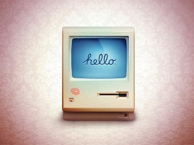 Macintosh macintosh love hello apple alxquare icon kiss