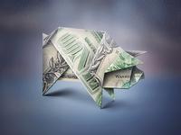 Squarespace origami pig