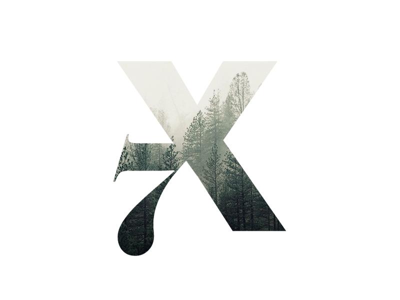 X7 logo concept letter x7 symbol mark identity branding logo brand