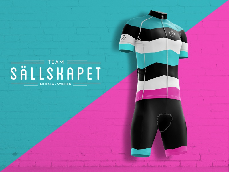 Team Sällskapet shorts dress kit bike team cycling bib jersey