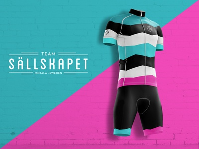 Team Sällskapet shorts dress kit bike team cycling bib jersey
