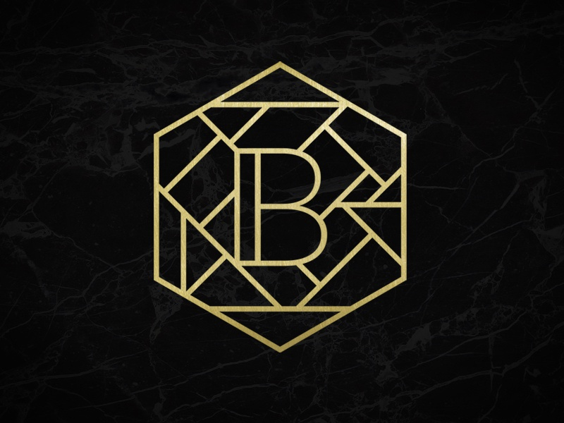 B... logotype flat lineart artdeco symbol mark logo identity emblem concept branding brand
