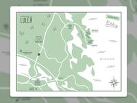Map of Luleå