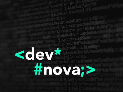 Dev Nova code logo brand branding pin developer identity mark logotype shape