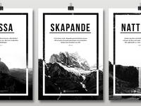 Posters for Immanuel Church Stockholm Sweden