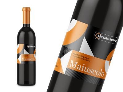 Wine Label clean bottle winery packaging shapes label wine hydroscand