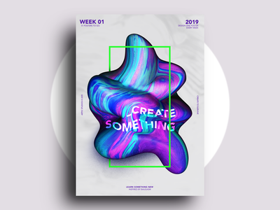 Week 01 - Poster project a poster every week studio-jq adobe texture 3d c4d abstract art create baugasm poster