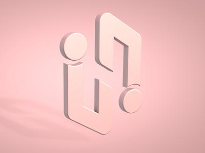 H-logo creative concept render 3d cinema4d c4d mark identity brand logo