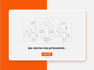 404 error lineart pipes disconnected error message 404 hose error