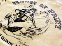 House of Print: Mermaid Canvas Tote