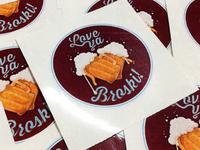 Broski Stickers