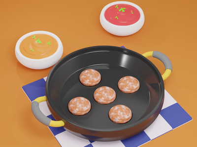 3D Food  Illustration vector branding logo illustration design motion graphics animation 3d graphic design