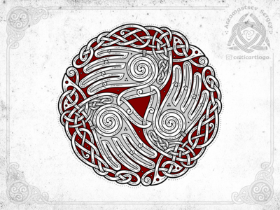 the Oath - triskelion hands knotwork
