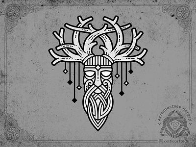 DRUID horn druid vector branding logo design knot irish ornament knotwork viking celtic