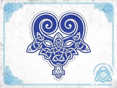 Bull knot 2021 coreldraw symbol 2021 bull vector emblem viking irish illustration animal knotwork knot ornament celtic
