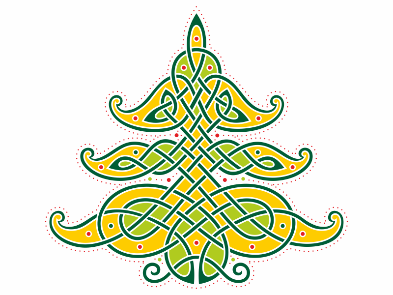 Celtic Christmas.Celtic Christmas Tree By Sergey Arzamastsev On Dribbble
