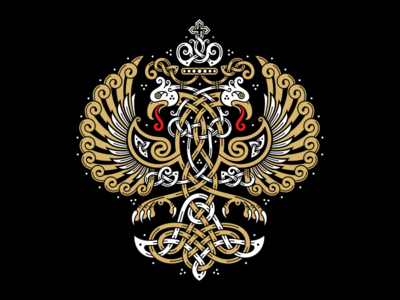 Celtic Two Headed Eagle russia eagle coatofarms celtic bird