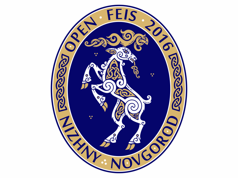 Nizhny Novgorod Open Feis 2016 \ Celtic Deer олень animal deer emblem ornament knot feis dance irish celtic nizhnynovgorod