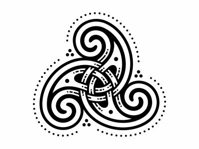 Triskele And Trikvetra ornament trikvetra triskele celtic