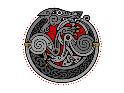 Celtic Wolf animal perm wolf celtic