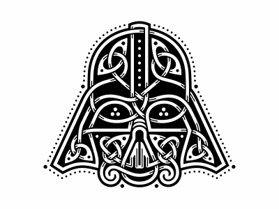 Celtic Darth Vader   darthvader starwars ornament celtic character vader darth