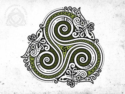 Snakes Triskelion viking dragon irish triskelion snake celtic