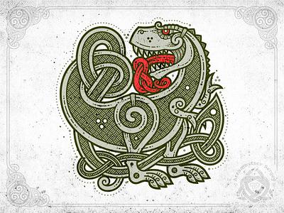 Tyrannosaurus Rex ornament dinosaur trex t-rex celtic rex tyrannosaurus