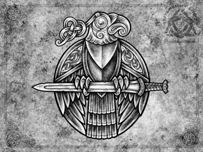 Scythian / Celtic bird and sword