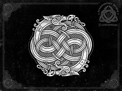 Dragons coreldraw dragon snake vector logo design illustration viking knot irish ornament celtic